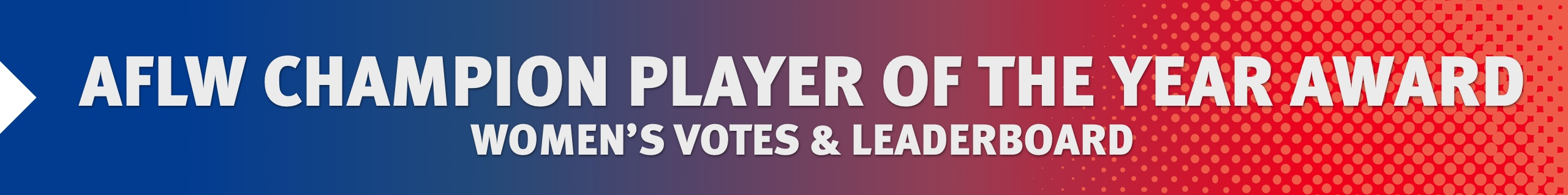AFLW Champion Player of the Year Votes and Award